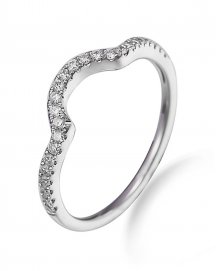 CURVED WEDDING DIAMOND BAND (TR1967B)