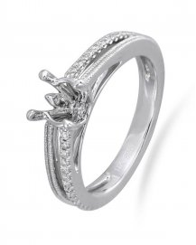 SEMI MOUNT ENGAGEMENT RING  (TR2384A)