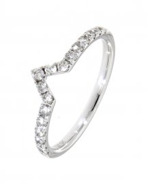 CURVED WEDDING DIAMOND BAND (TR2971B)