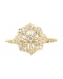 FLORAL DIAMOND RING (TR3064)