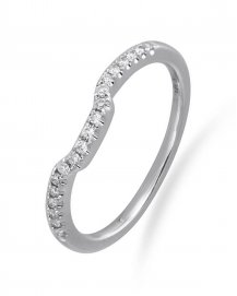 CURVED WEDDING DIAMOND BAND (TR737B)