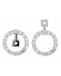ROUND DIAMOND EAR JACKETS (TE601)