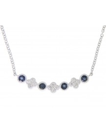 COLORED STONE DIAMOND NECKLACE (TN225)