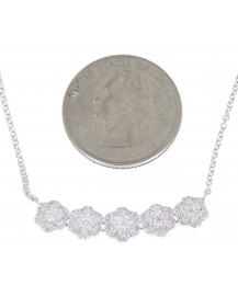 FLORAL DIAMOND NECKLACE (TN274)