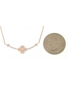 FLORAL DIAMOND NECKLACE (TN311)