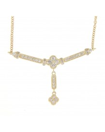 DANGLING DIAMOND NECKLACE (TN315)