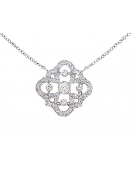 FLORAL DIAMOND NECKLACE (TN327)