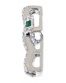 COLORED STONE DIAMOND PENDANT (TP1265)