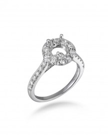 SEMI MOUNT DIAMOND ENGAGEMENT RING (TR1049)