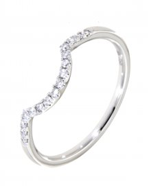 CURVED DIAMOND BAND  (TR1412B)