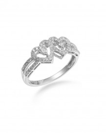 HEART SHAPE DIAMOND RING (TR1469)