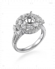 SEMI MOUNT ENGAGEMENT RING (TR1533)