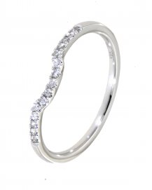 CURVED DIAMOND BAND  (TR1590B)