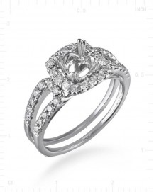 SEMI MOUNT ENGAGEMENT RING (TR1966A)