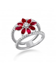 FLORAL DIAMOND RING (TR2081)