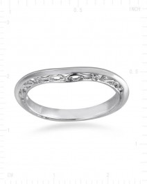 CURVED WEDDING BAND (TR2385B)