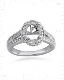 SEMI MOUNT ENGAGEMENT RING  (TR2392A)
