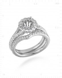 SEMI MOUNT DIAMOND ENGAGEMENT RING (TR2396A)