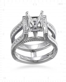SEMI MOUNT ENGAGEMENT DIAMOND RING (TR2475A)