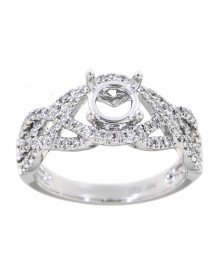 FANCY SEMI MOUNT ENGAGEMENT RING (TR2490)