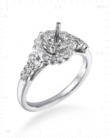 SEMI MOUNT ENGAGEMENT RING (TR2495)