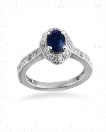 VINTAGE BLUE SAPPHIRE RING (TR2496)