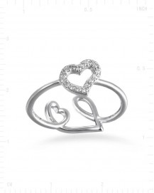 HEART SHAPE DIAMOND RING (TR2539)