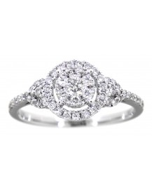 ROUND DIAMOND RING (TR3046)