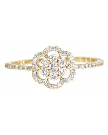 FLORAL DIAMOND RING (TR3097)