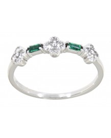 DIAMOND COLORED STONE RING (TR3153)