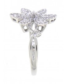 FLORAL DIAMOND RING (TR3314)
