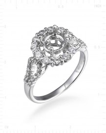SEMI MOUNT ENGAGEMENT RING (TR832)