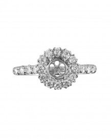SEMI-MOUNT DIAMOND RING (TR968)