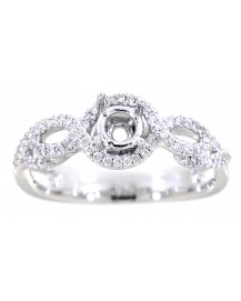 FANCY SEMI MOUNT ENGAGEMENT RING (TR987)